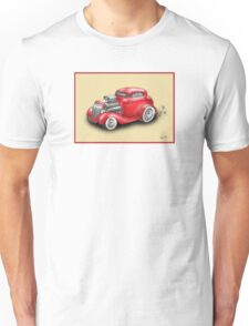 HOT ROD CAR CHEV STYLE RED Unisex T-Shirt