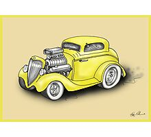 HOT ROD CAR CHEV STYLE YELLOW Photographic Print