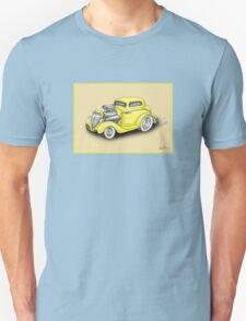 HOT ROD CAR CHEV STYLE YELLOW Unisex T-Shirt