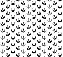 Rebels Segmented Logo (Black on White, Pattern 2) by JoshBeck