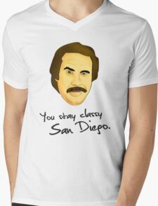 Ron Burgundy Mens V-Neck T-Shirt