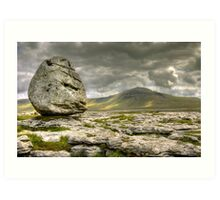 Ingleborough from Scales Moor Art Print