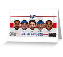 TEAM EAST - All Star NYC 2015 - SMILE DESIGN  Greeting Card