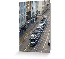 Zurich tram Greeting Card