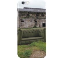 A story telling sofa in an abandoned factory iPhone Case/Skin