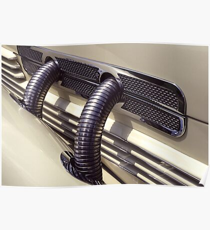 1937 Cord Phaeton Supercharger Pipes Poster