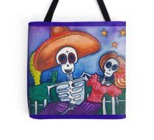 cartoon Mexican day of the dead art Tote Bag