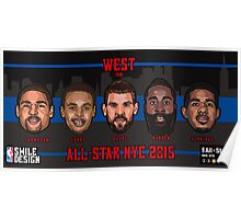 TEAM WEST - All Star NYC 2015 - SMILE DESIGN Poster