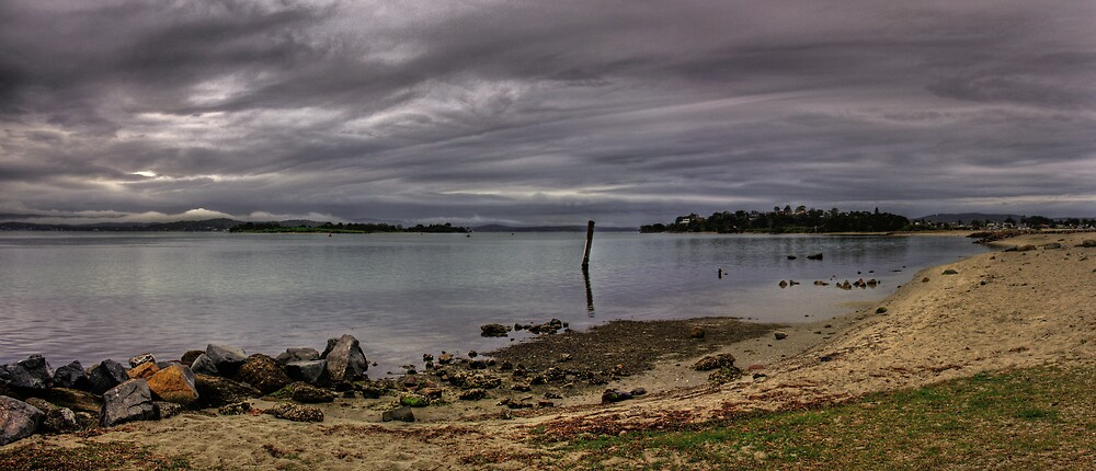 Storm over Lake Macquarie by Steve D