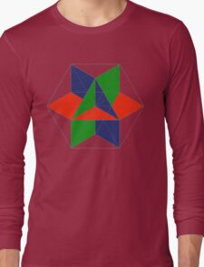 3D cube-octahedron Long Sleeve T-Shirt