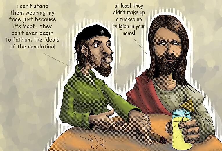 Jesus and Che by liquidnerve