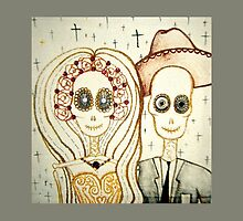 newly weds skeleton day of the dead art by melaniedann