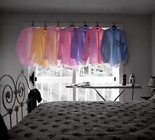 Ironing Day Adds Color to a Room by Wayne King