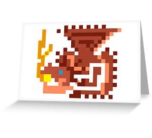 Pixel Rathalos Greeting Card