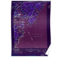 Maine USGS Historical Map Kittery 806829 1944 24000 MAJOR DAMAGE Inversion Poster