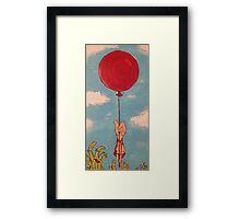 Little Red Balloon  Framed Print