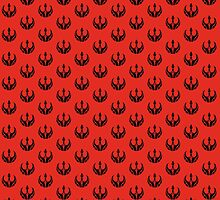 Rebels Segmented Logo (Black on Red, Pattern 2) by JoshBeck