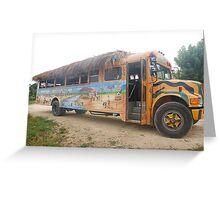 Punta Cana Party Bus Greeting Card