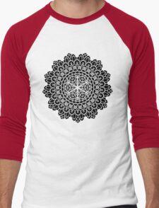 Geometric Mandala Men's Baseball ¾ T-Shirt