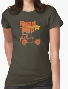 Road Trip in a Jeep Womens Fitted T-Shirt
