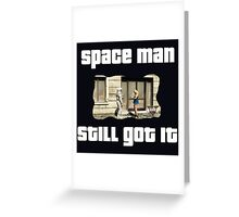 Grand Theft Auto Space Man Design Greeting Card