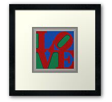 Knitted love Poster Framed Print