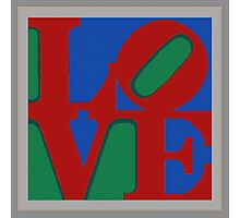 Knitted love Poster Photographic Print