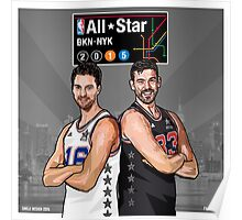PAU & MARC - All Star NYC 2015 - SMILE DESIGN Poster