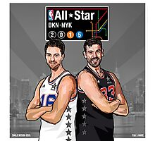 PAU & MARC - All Star NYC 2015 - SMILE DESIGN Photographic Print