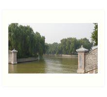 Summer Palace river, Beijing China Art Print