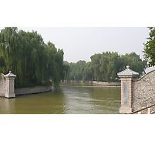 Summer Palace river, Beijing China Photographic Print