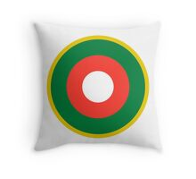 Roundel of the Malagasy Air Force  Throw Pillow