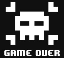 Game Over: 8-Bit Skull Art Style by bryan7474