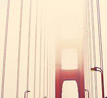 San Francisco Golden Gate Bridge Fog by heyletsart