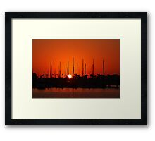 Marina Del Rey Sunset Framed Print