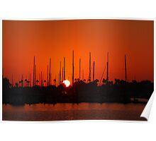 Marina Del Rey Sunset Poster