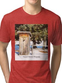 House with the half-moon on the door Tri-blend T-Shirt