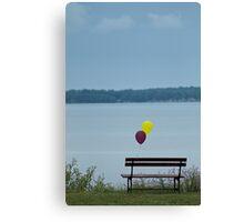 Sad lonely baloons Canvas Print