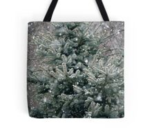 The snow is snowing, the wind is blowing.... Tote Bag