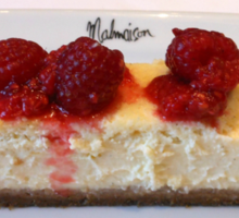 White Chocolate Cheesecake and Crushed Raspberries Sticker