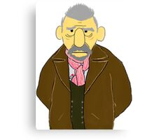 The War Doctor Muppet Style Canvas Print