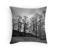 Spooner Hill in Black and White Throw Pillow