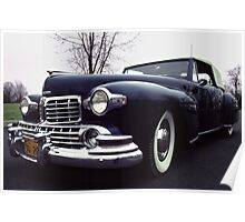 1947  Lincoln Rag-top on Moody Day Poster