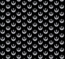 Rebels Segmented Logo (Grey on Black, Pattern 2) by JoshBeck
