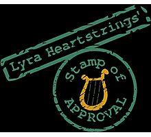 Lyra's Stamp Photographic Print