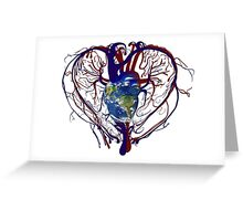 """Anatomical Kind """"Earth Heart"""" Medical Circulatory Get Well Kindness Greeting Card"""