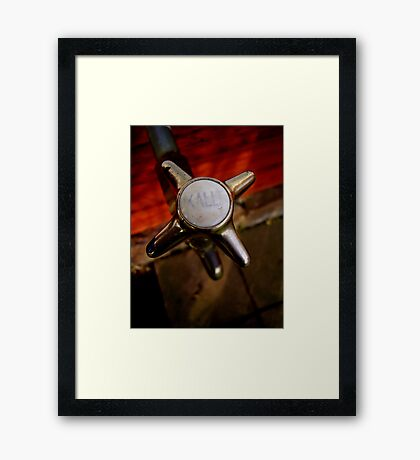 Water Tap Framed Print