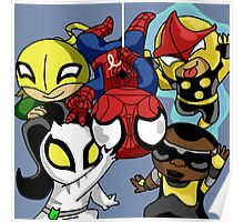 Chibi Spiderman and Friends  Poster