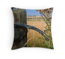 Barbs & Thistles Throw Pillow