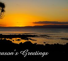 Coles Bay sunset,  Season's Greetings by Steven Weeks